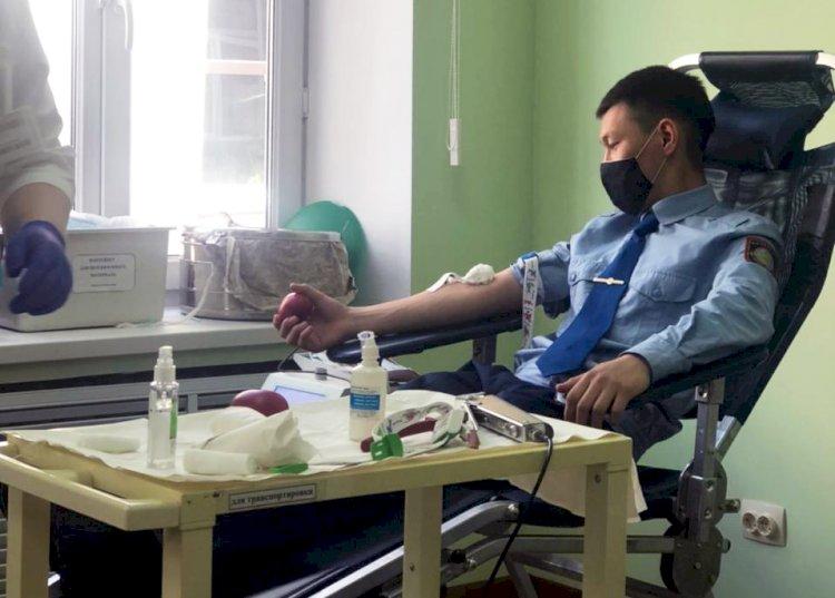 Сотрудники МВД РК снова стали донорами крови