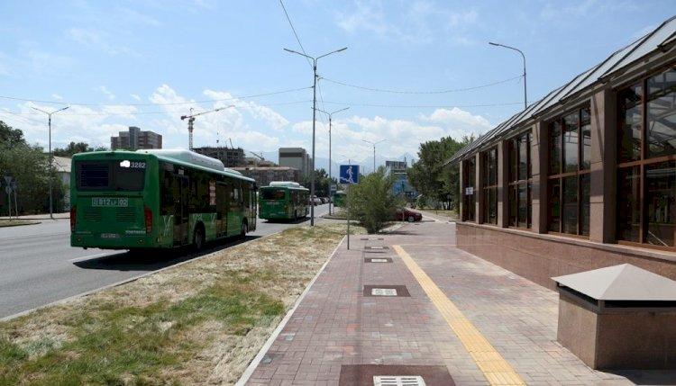 Изменена схема движения одного из автобусов Алматы