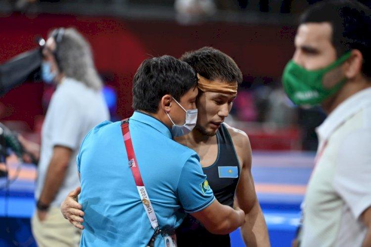 Казахстанский борец Нурислам Санаев завоевал бронзовую медаль Олимпиады