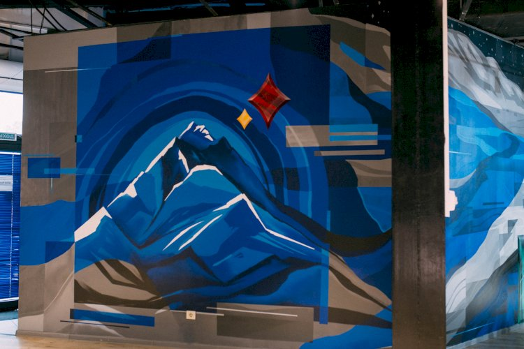 Уникальный арт-проект на картину «Турксиб» создан художниками Алматы