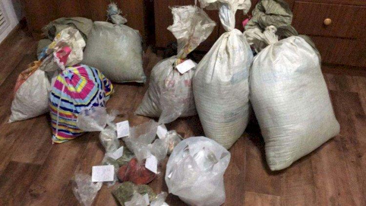 20 мешков марихуаны изъяли у жителя Алматинской области