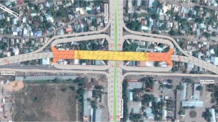 Проспект Рыскулова в Алматы перекроют из-за строительства развязки