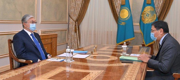 Президент Касым-Жомарт Токаев принял председателя Нацбанка Ерболата Досаева