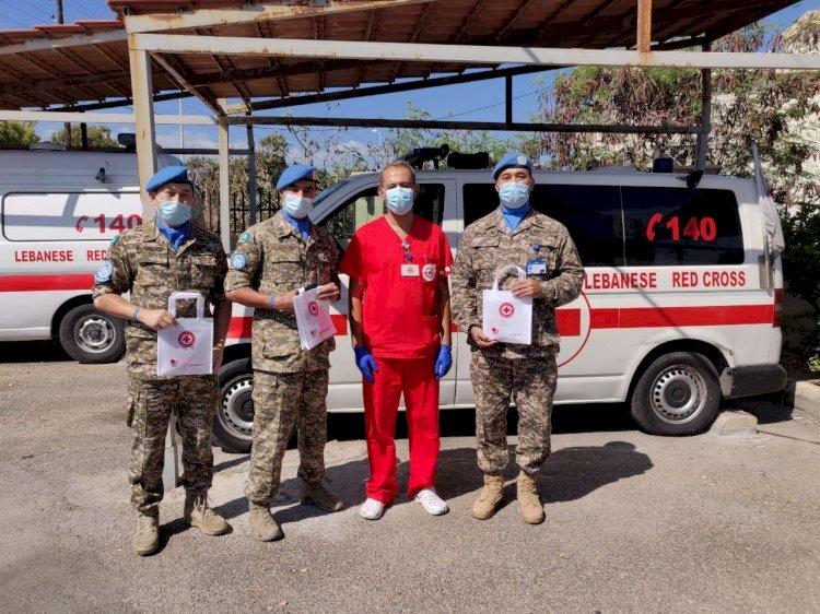 Казахстанские миротворцы стали донорами крови в Ливане