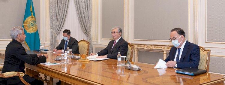 Токаев принял министра иностранных дел Индии