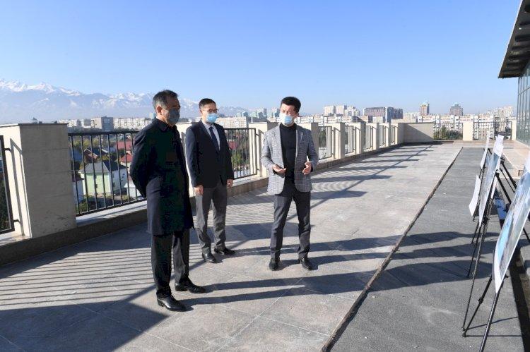 Бакытжан Сагинтаев ознакомился с ходом строительства бизнес-инкубатора и акселератора MOST IT Hub Almaty